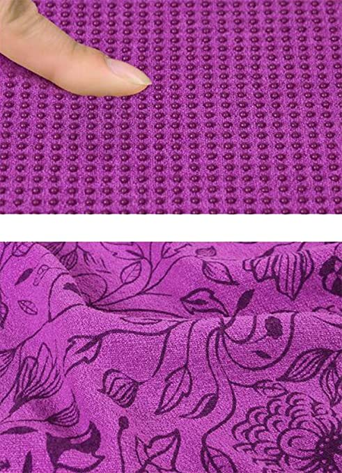 L&Y Toalla De Yoga Antideslizante - 183Cmx63cm - Toalla De Pilates De Microfibra - Hot Toalla De Yoga - Absorbente, De Secado Rápido - con Bolsa De Malla,A: ...