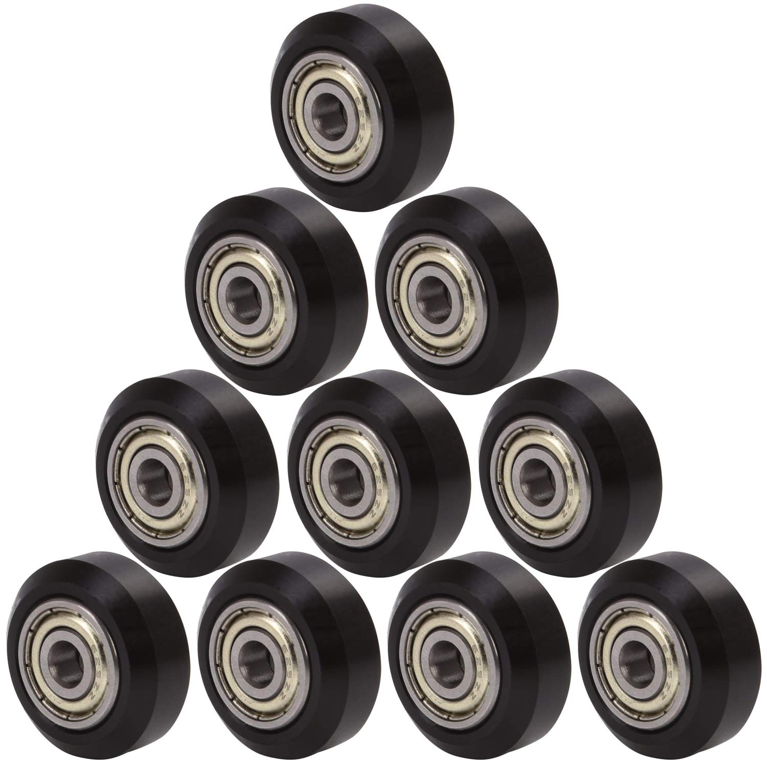 V-type Bearing Wheels Round 10pcs Big Pulley For 3D Printer Replacement