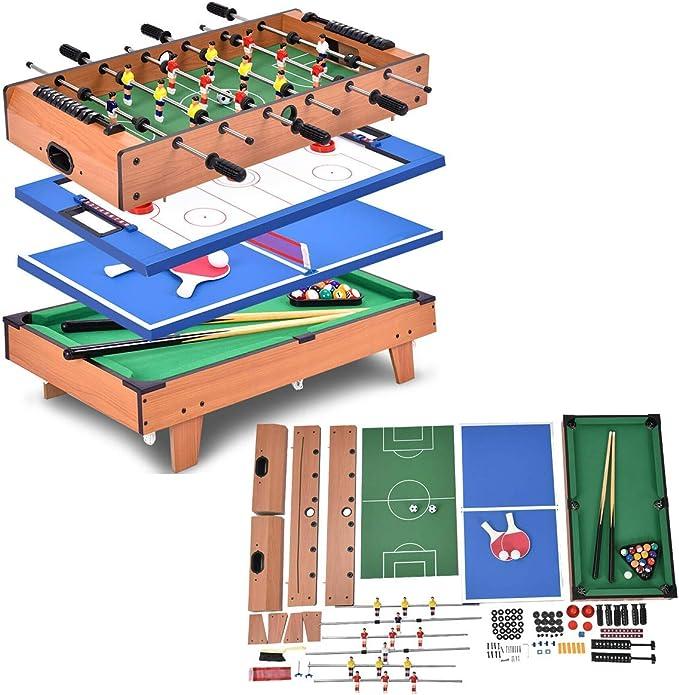 3 en 1 Multi Juego Tenis de mesa, aire con diseño de billar y mesa de billar Convertible Combo juego de entretenimiento | 36