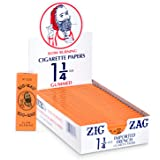 Zig-Zag Rolling Papers - 1 1/4 French Orange Rolling Papers - Natural Gum Arabic - 78 MM - 24 Booklets with 32 Papers per Boo