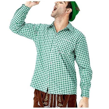 POTOU Camisa para Traje Regional para Hombre, Slim Camisa de Ocio ...