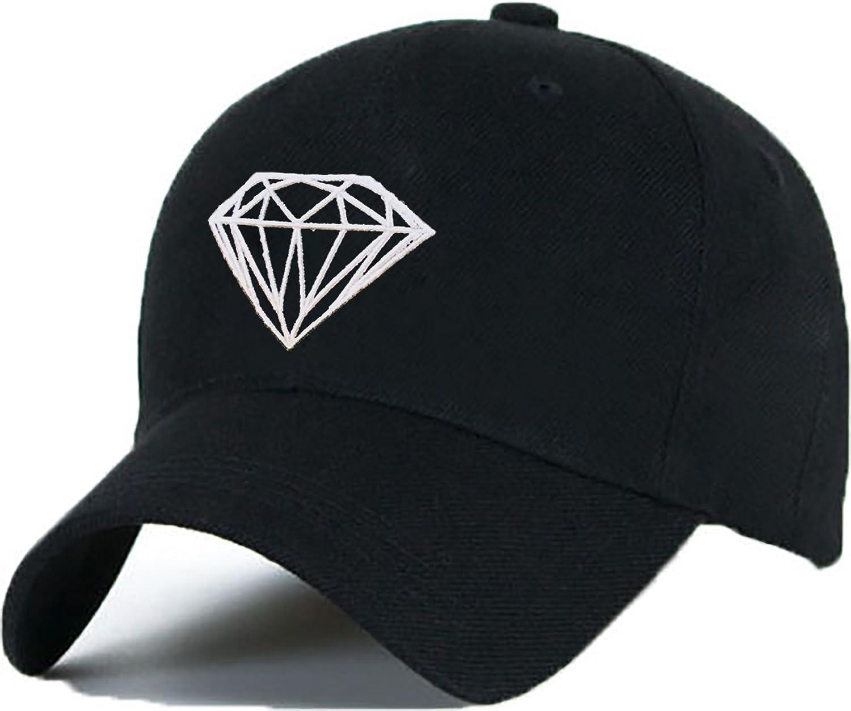 Gorra de béisbol, gorra con dibujo de diamante, unisex, Hip-Hop ...