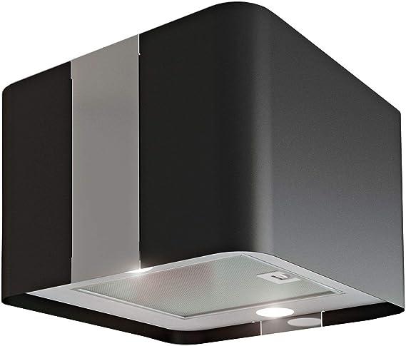 Airforce 558568 Villa - Campana extractora de aire (45 x 45 cm, luz LED, 600 m3/h), color negro: Amazon.es: Iluminación