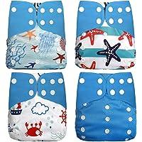 Wenosda 4PCS Pañales de tela para bebés Pañales