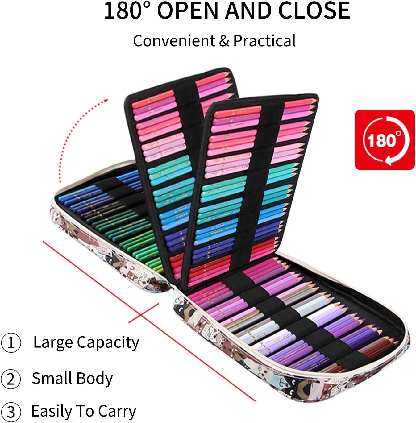 pour enfants MARSACE Trousse//Sac de crayon 150 trousse de crayon Grand Capacit/é avec Manipuler Pencil Case designer adulte artiste Animal