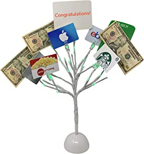 Mein Schatz Money Tree Gift Card Holder with 10 Clips and LED Lighted Tips