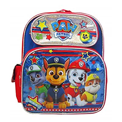 Paw Patrol Chase Marshall Rubble Rocky 12 inches Toddler Backpack | Kids' Backpacks