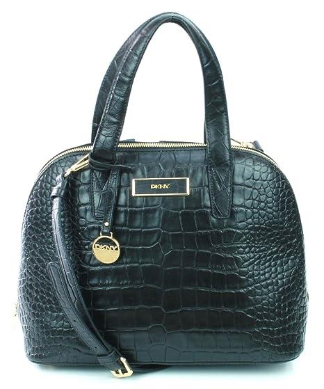 3e866497875 DKNY Donna Karan Black Leather Croc Embossed Shoulder Bag Medium Handbag  RRP £300: Amazon.co.uk: Luggage