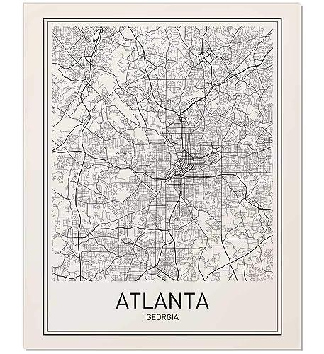 Amazon.com: Atlanta Poster, Map of Atlanta, Atlanta Map, City Map