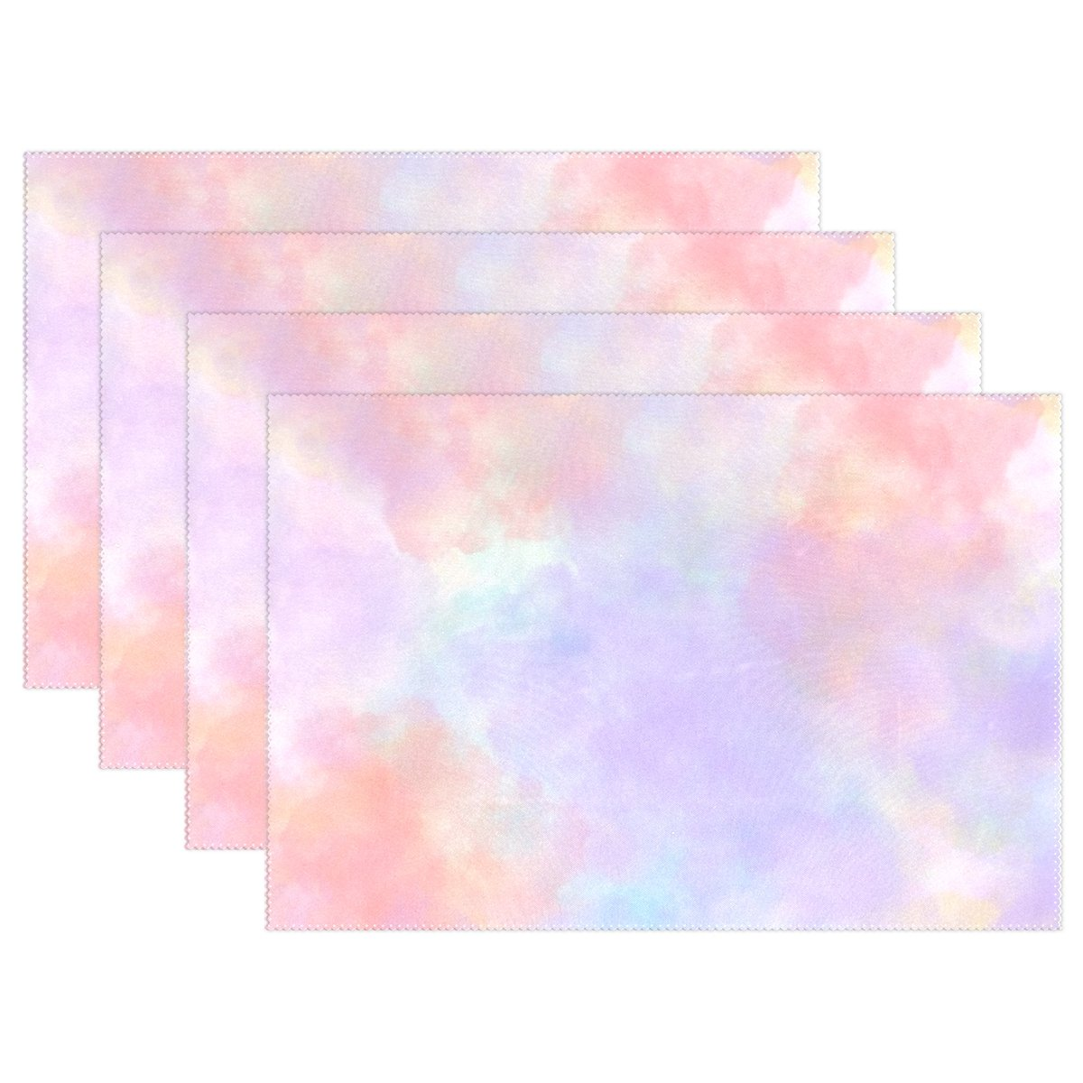 YPink Pastel Scrapbook Paper Shades Spetters Placemats Set Of 4 Heat Insulation Stain Resistant For Dining Table Durable Non-slip Kitchen Table Place Mats