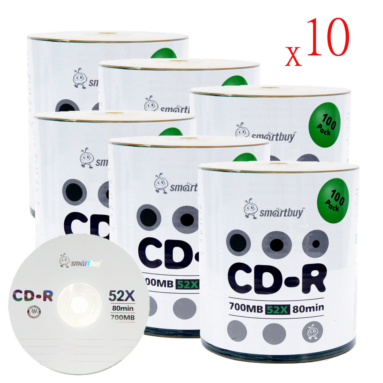 Smart Buy Logo CD-R 6000-Pack 700mb 52x Blank Data Recordable Discs, 6000 Disc, 6000pk
