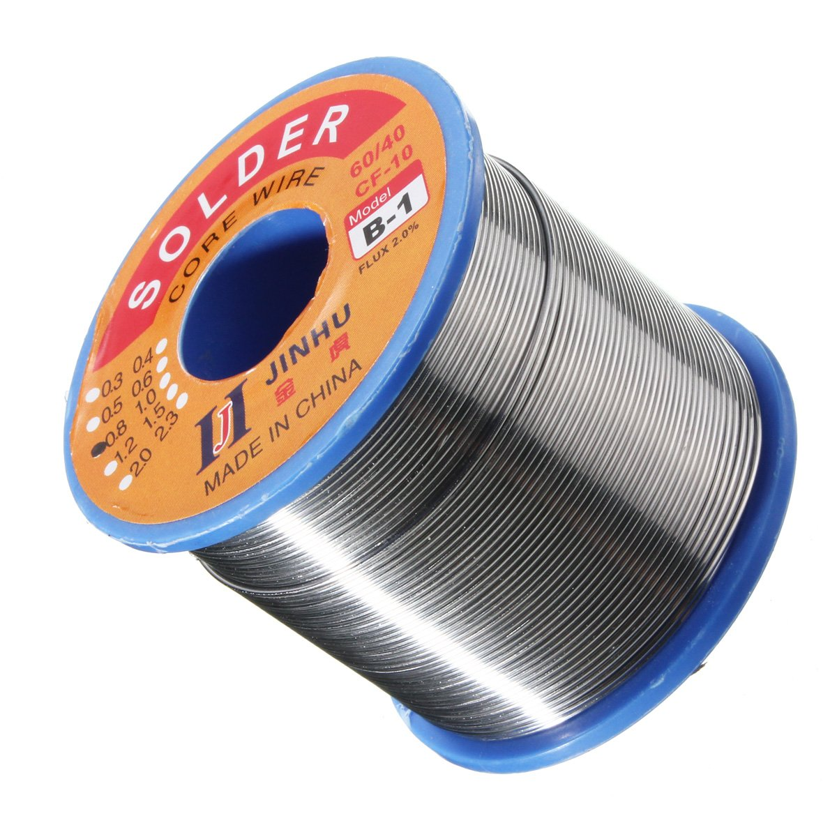 Flux 0.8mm Dia Soldering Solder Wire Reel 400g 60//40 Tin Lead 1.8-2.2/%