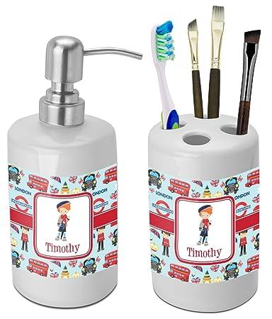 london bathroom accessories set ceramic personalized