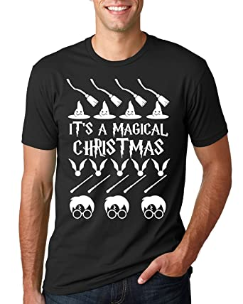 its a magical christmas harry potter ugly christmas sweater style unisex tee graphic - Harry Potter Ugly Christmas Sweater