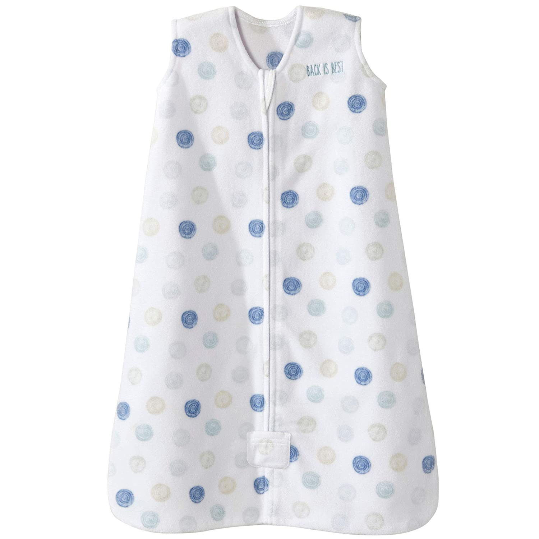 Halo Sleepsack Microfleece Wearable Blanket, Swirl Circles Blue, Medium