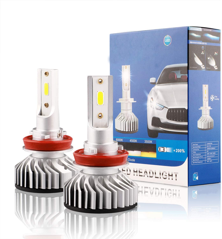 9006 LED Headlight Bulbs 6500K 16000LM COB HB4 LED Hi//Lo Beam Headlight Foglight