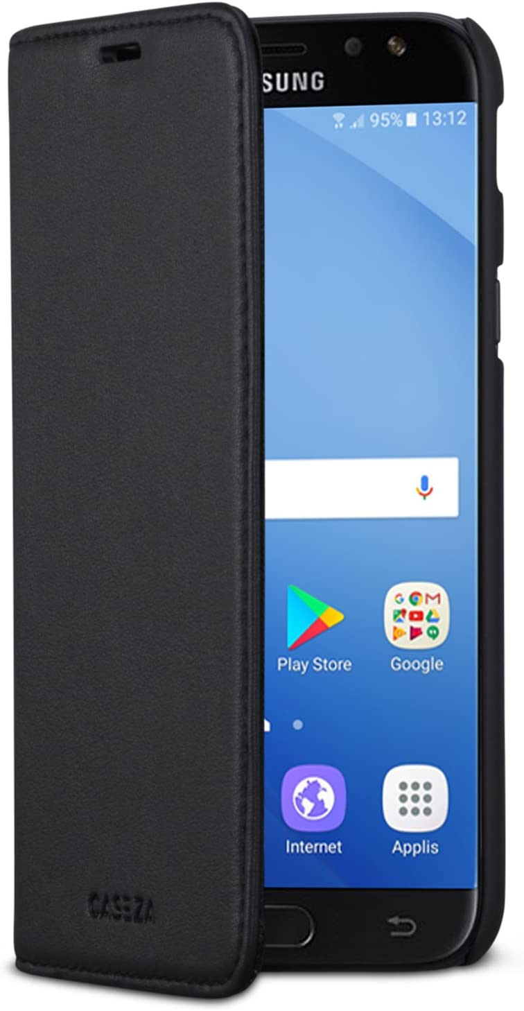 CASEZA Samsung Galaxy J5 2017 Funda Negro Tipo Libro Piel PU Case ...