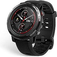 Amazfit Stratos 3 smartwatch z GPS i pamięcią muzyczną, sportowy zegarek z 19 trybami sportowymi, wyświetlacz MIP, 5 ATM…