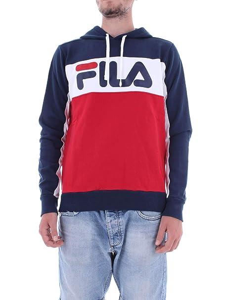 Fila - Felpa - Uomo Blu Taglia Produttore L: Amazon.it ...