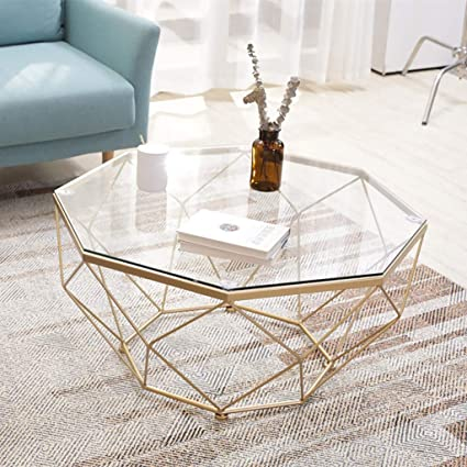 Geometric Glass Coffee Table 2