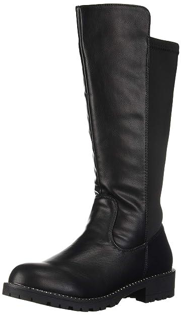 47c511598b3 Steve Madden Girls  Jellie Fashion Boot Black 1 M US Little Kid