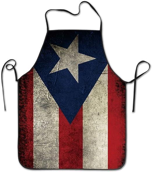 "Apron with Puerto Rico Design 24/"" W x 29/"" L"