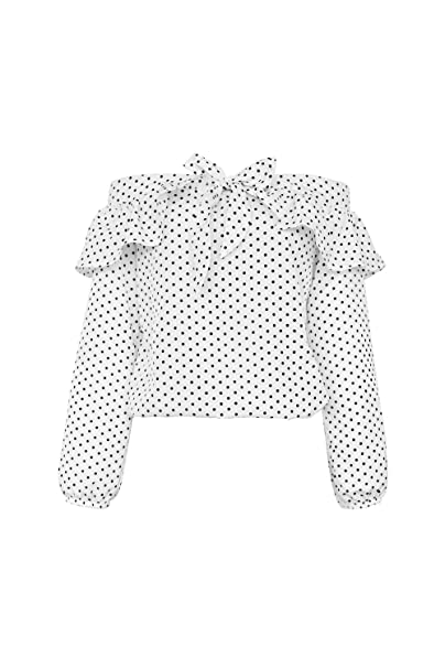 Vemubapis Las Mujeres Elegantes Camisas de Lunares con Volantes Blusa de Un Hombro: Amazon.es: Ropa y accesorios