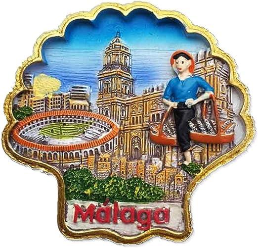 Picasso Hometown Málaga España Europa Ciudad del Mundo resina 3d fuerte imán para nevera recuerdo turista regalo chino imán hecho a mano creativo hogar y cocina decoración magnética: Amazon.es: Hogar