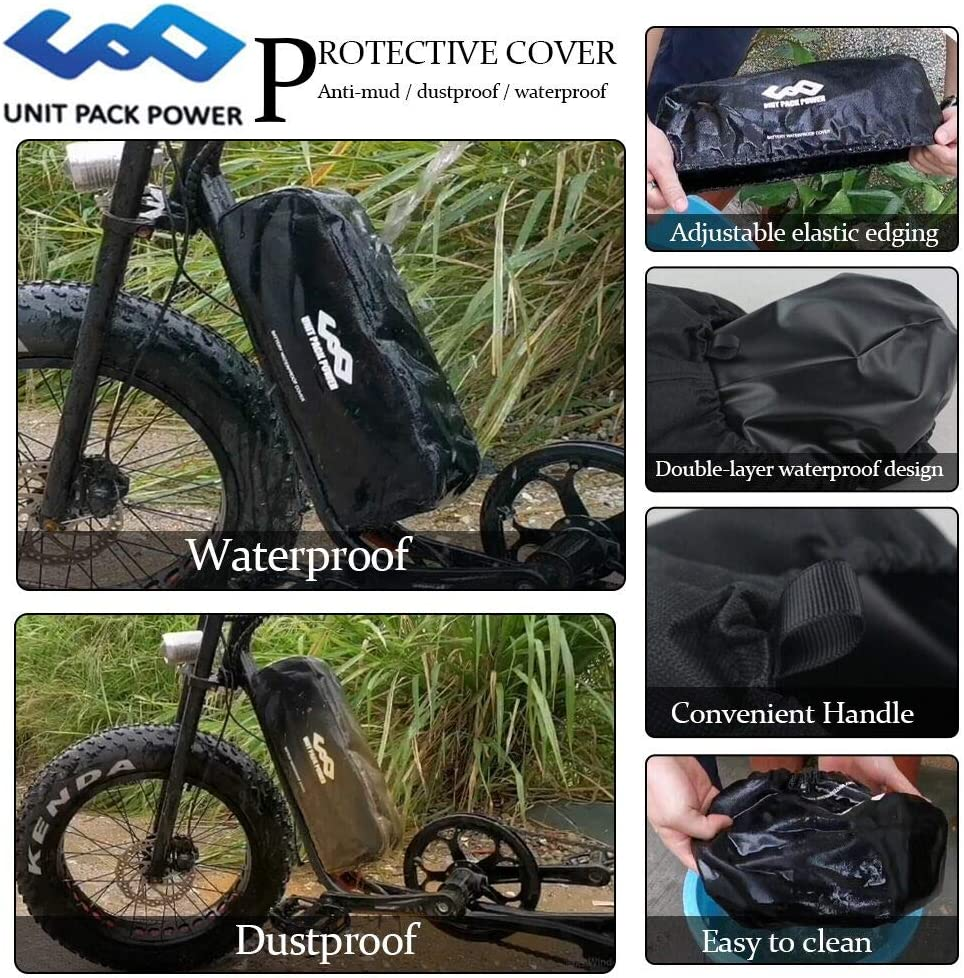 Unit Pack Power Ebike Battery Bag for Hailong Battery//Dolphin//Tiger Shark//Jumbo Shark Electric Bike Battery Bag Cover Hailong Battery