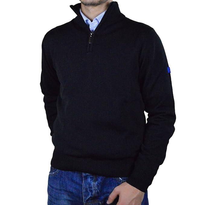 Iacobellis Maglione Uomo Pullover con Zip Misto Lana Merinos Made in Italy  Amazon.it Abbigliamento