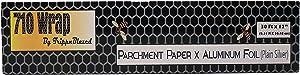"""710 Wrap- Aluminum Foil X Parchment Paper. 30' x 12"""" roll. (Plain Silver)"""