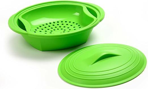 Amazon.com: Norpro – Vaporera de silicona con Insert, Verde ...