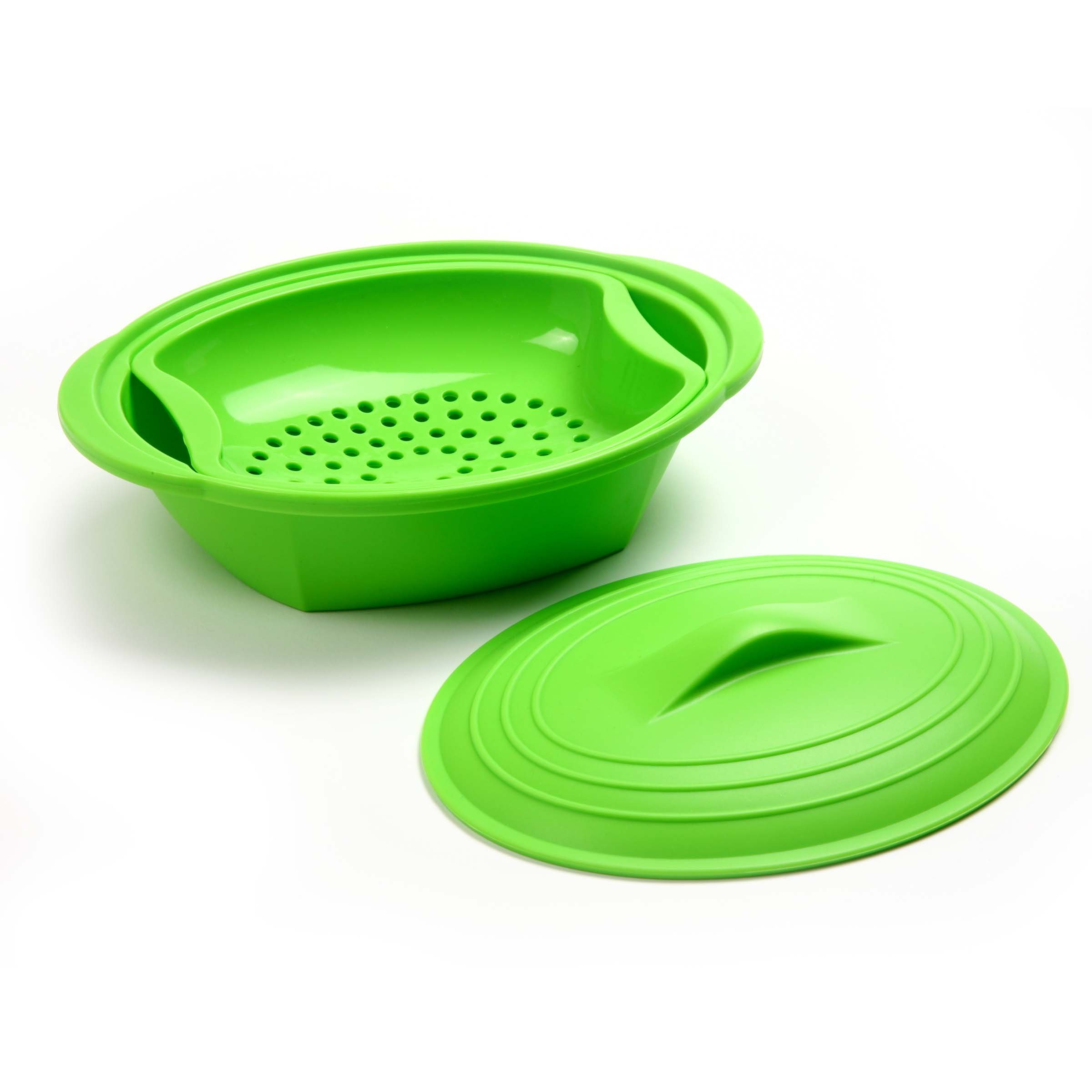 Norpro Silicone Steamer with Insert, Green