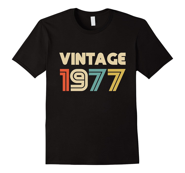 Vintage 1977 40th Birthday Gift T Shirt for Men & Women-T-Shirt