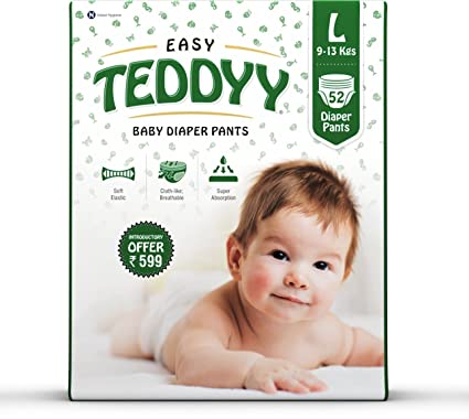 47d640d168 Buy Teddyy Baby Easy Large Diaper Pants (Pack of 52) Online at Low Prices  in India - Amazon.in