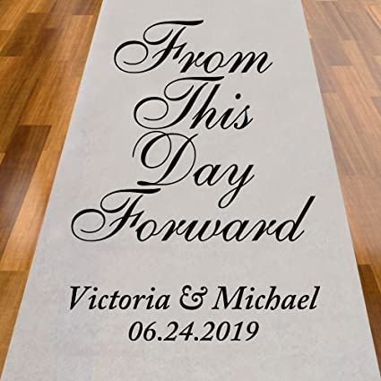 Amazon Com From This Day Forward Personalized Aisle Runner Home
