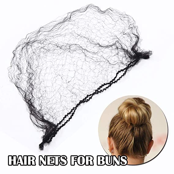 Details about  /1pcs Invisible Hair Net Hair Hairnets Elastic Edge Mesh Hairnet Mesh Sport Bun