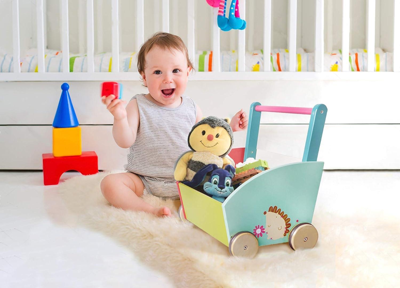 2-in-1 Wooden Activity Walker for Baby 1-3 Years Push Toy//Baby Wagon//Infant Walker Baby//Activity Walker//Learning Walker//Toddler Walker Activity Red Fire Truck Walker Labebe Baby Walker with Wheel