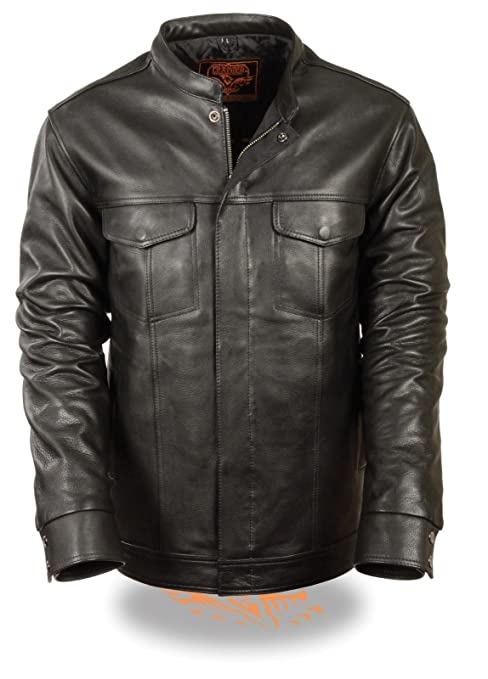 Son of Anarchy Hooded Leather Jacket Anarchy Motorcycle Biker Club