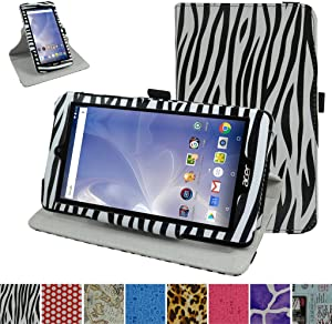 """Acer B1-780 / B1-790 Rotating Case,Mama Mouth 360 Degree Rotary Stand with Cute Cover for 7"""" Acer Iconia One 7 B1-780 / Iconia One 7 B1-790 Android Tablet,Zebra Black"""