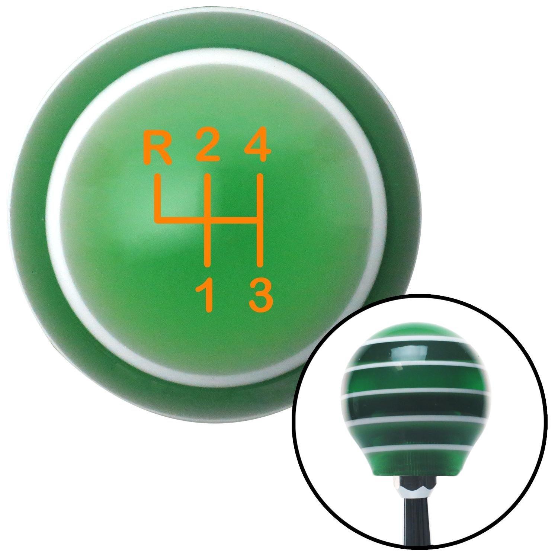 Orange Shift Pattern 8n American Shifter 127395 Green Stripe Shift Knob with M16 x 1.5 Insert