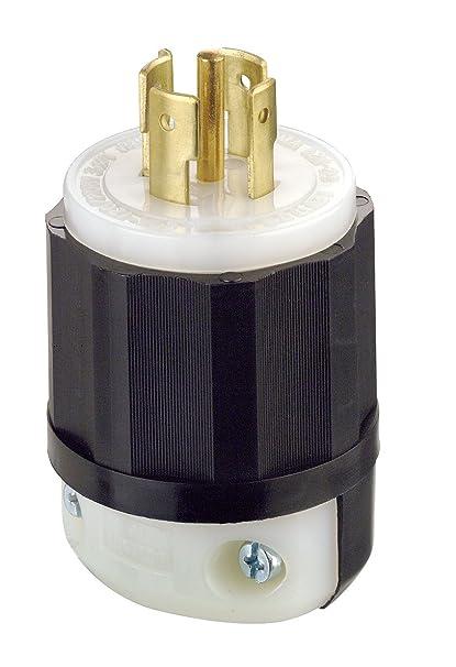 Leviton 2511 20 Amp, 120/208 Volt 3PY, NEMA L21-20P, 4P, 5W, Locking on nema l21-20r grainger, nema plug configurations twist lock, nema l21-20p, nema l5-20, nema l21-30r,