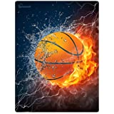 "HommomH 59"" x 80"" Blanket Comfort Warmth Soft Cozy Air conditioning Easy Care Machine Wash Basketball Fire Cool"