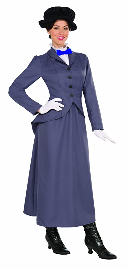 Edwardian Costumes – Cheap Halloween Costumes Mary Poppins English Nanny Costume  AT vintagedancer.com