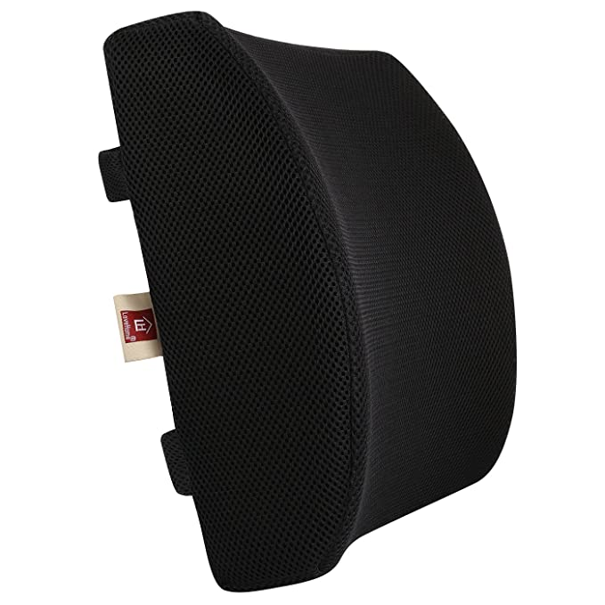 LoveHome Memory Foam Lumbar Support Cushion - The Sturdy and Breathable
