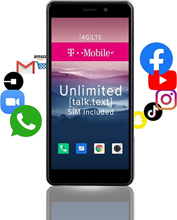 Unlocked 3G GSM Cell Phone - Nitro 5R by Blue Beat Mobile - Celular Desbloqueado - Android 8.1 Smartphone - Stunning 5.0'' Display - Dual SIM - Arrives with SIM Card (T-Mobile) [Pearl White]