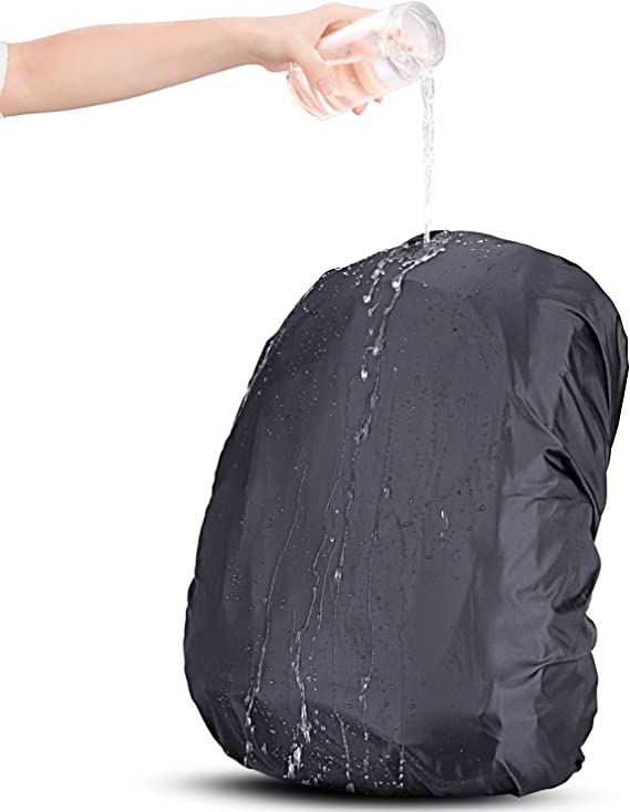 XS:10-17L S:18-25L M:26-40L L:41-55L AGPTEK 2-Pack Nylon Waterproof Backpack Rain Cover with 1 Storage Bag for Hiking//Camping//Traveling//Outdoor Activities,Size