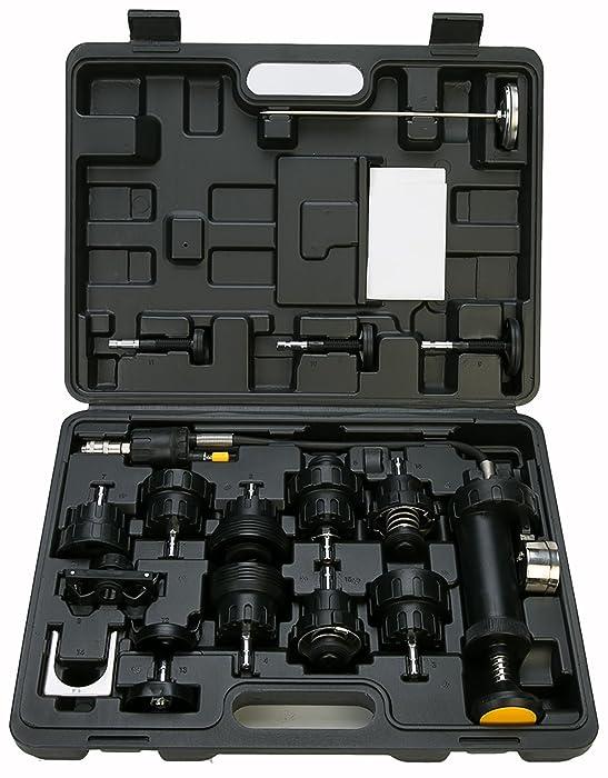 8MILELAKE 18pcs Radiator Pump Pressure Tester and Vacuum Pump Type Cooling System Kit