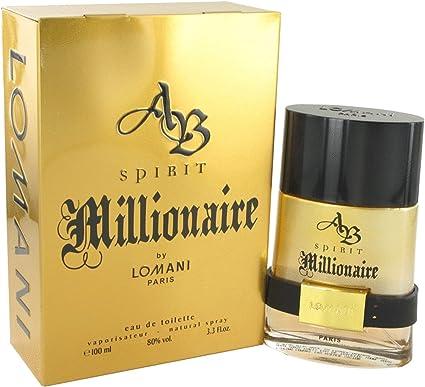 AB SPIRIT MILLIONAIRE Cologne. EAU DE TOILETTE SPRAY 3.3 oz 100 ML By Lomani Mens by Lomani