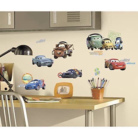 Roommates Rmk1583Scs Disney Pixar Cars 2 Peel U0026 Stick Wall Decals